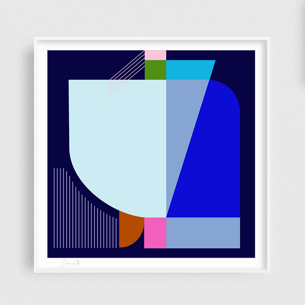 50cm x 50cm Blue Swell Limited Edition Print by Michele Luminato