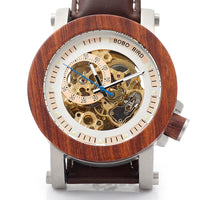 The Horticulturist:  Wood-framed  Skeleton Watch
