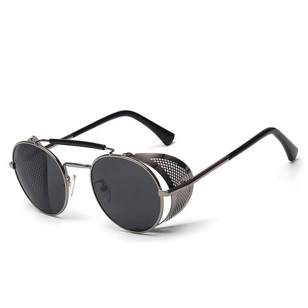 Quinn: Metal-shield Sunglasses