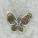"""Violet"" Steampunk Butterfly Pendant"