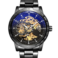The Adventurer:  Steampunk Skeleton Watch