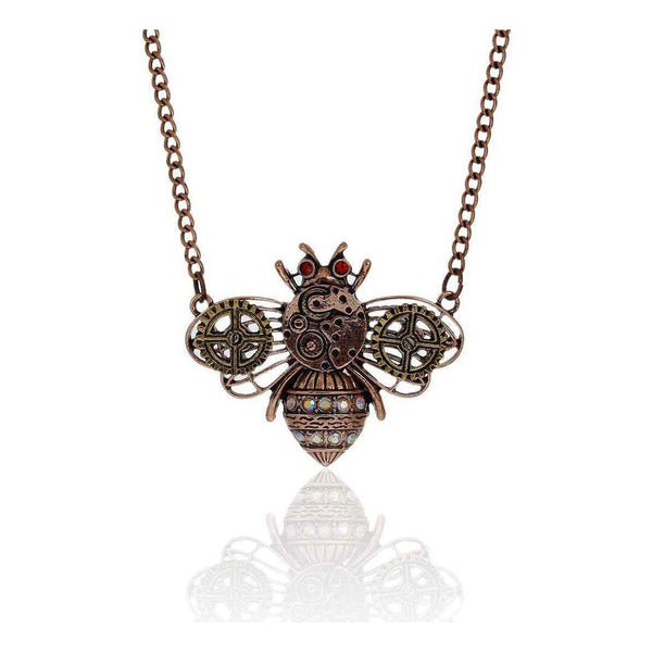 """Buzz"" Clockwork Bee Steampunk Necklace"
