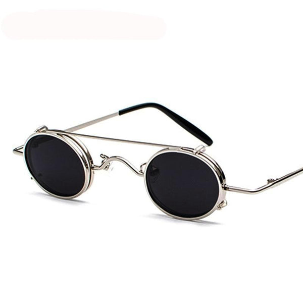 Alain:  Mini Clip-on-look Steampunk Shades
