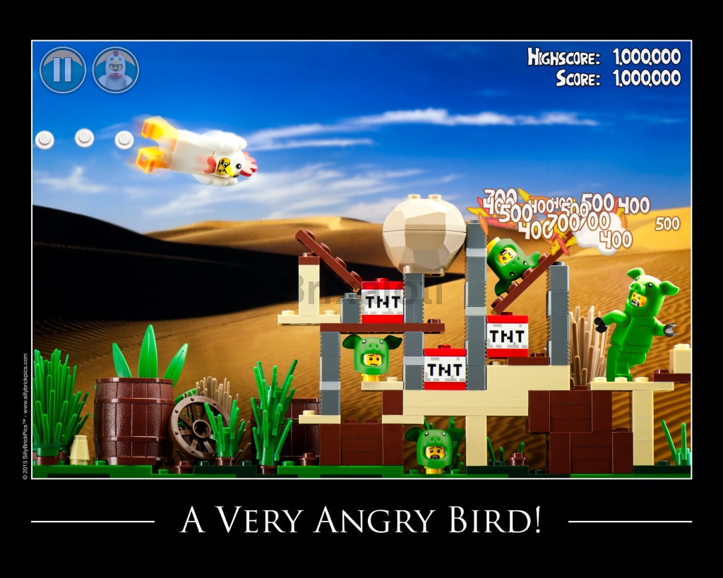 Angry Bird Toy Photography Art Print 8X10 Art