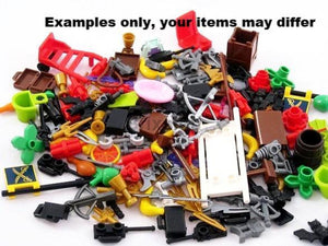 Assorted Minifigures Bulk Accessories-50+ Pieces Minifigure