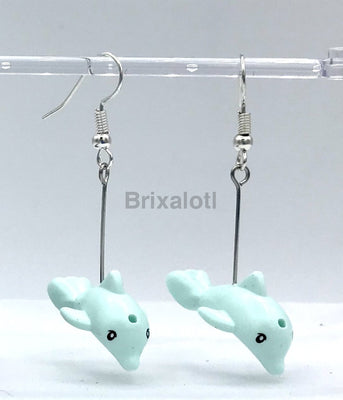Baby Dolphin Dangler Earrings