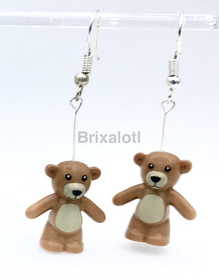 Brown Teddy Bear Dangler Earrings
