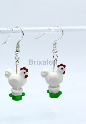 Chicken Dangler Earrings
