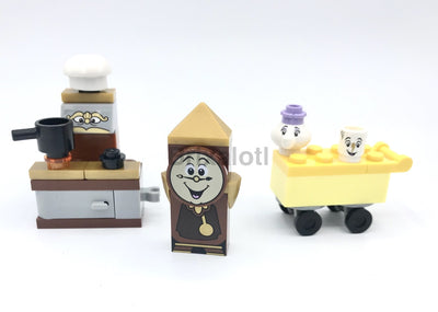 Cogsworth Chef Mrs.potts And Chip Minifigure