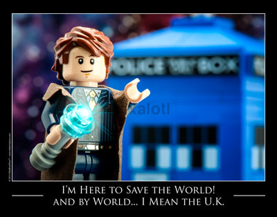 Doctor Who Saves The World Toy Photography Art Print 8X10 Art