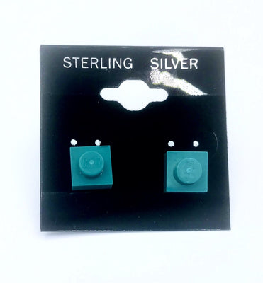 Earrings 1X1 Square Studs Jewelry