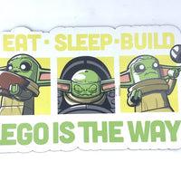 Eat Sleep Build Baby Yoda Magnet Art