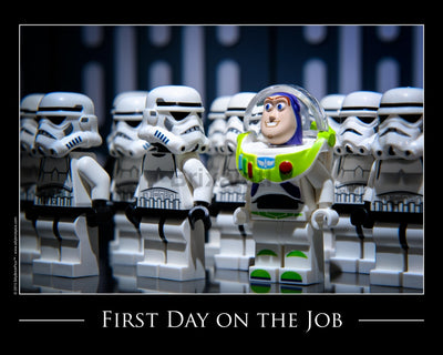 First Day On The Job Toy Photography Art Print 8X10 Art