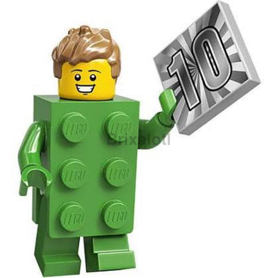 Green Brick Suit Guy Minifigure