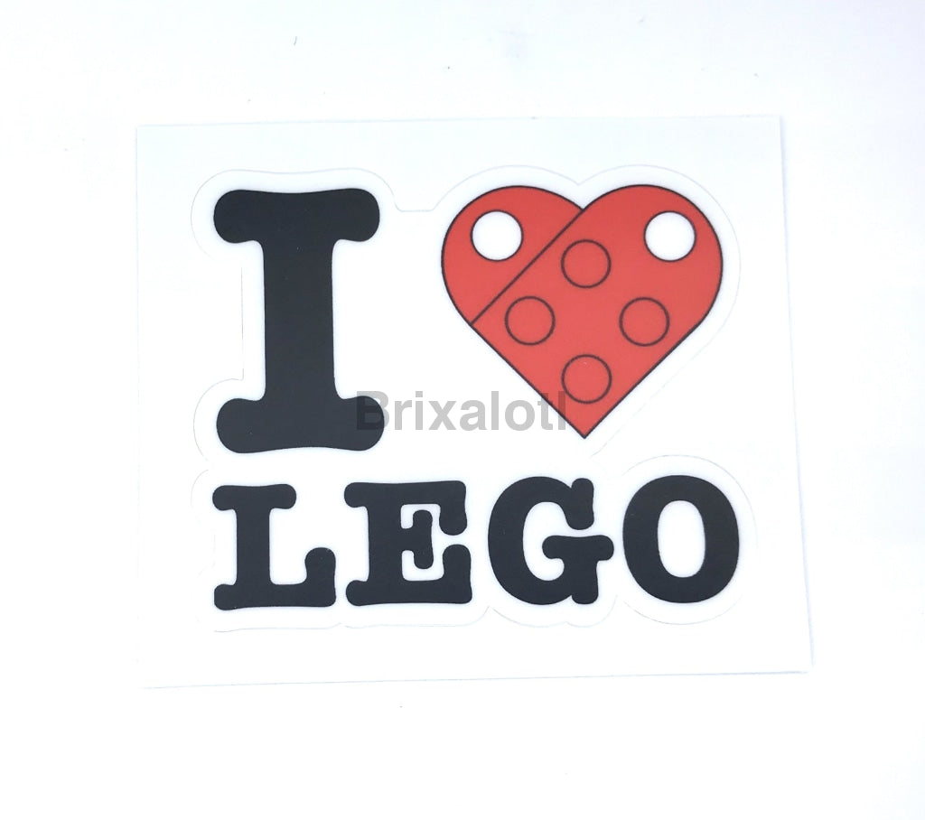 I Heart Lego Sticker Sticker