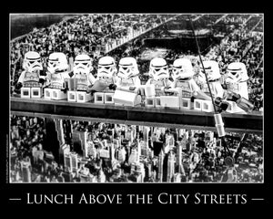 Lunch Above The City Streets Toy Photography Art Print 8X10 Art