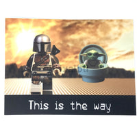 Mandolorian And Baby Yoda Magnet Magnet