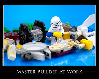 Master Builder At Work Toy Photography Art Print 8X10 Art
