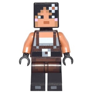 Minecraft Skin 2 Female With Flower And Suspenders Minifigure
