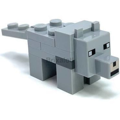 Minecraft Wolf Minifigure