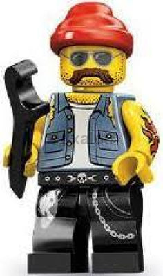 Motorcycle Mechanic Minifigure