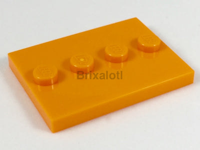 Orange Minifigure Stand Minifig Accessories
