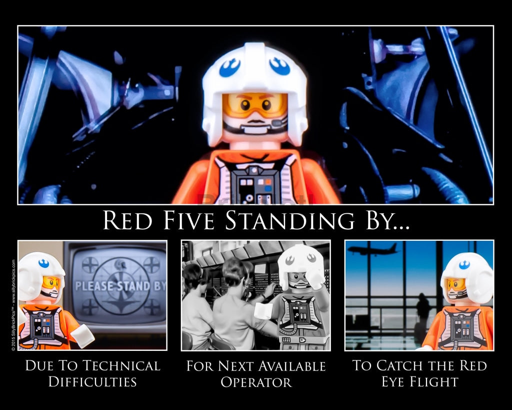 Red Five Toy Photography Art Print 8X10 Art