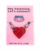 Valentine Heart Necklace- Hey Valentine, Let's connect!