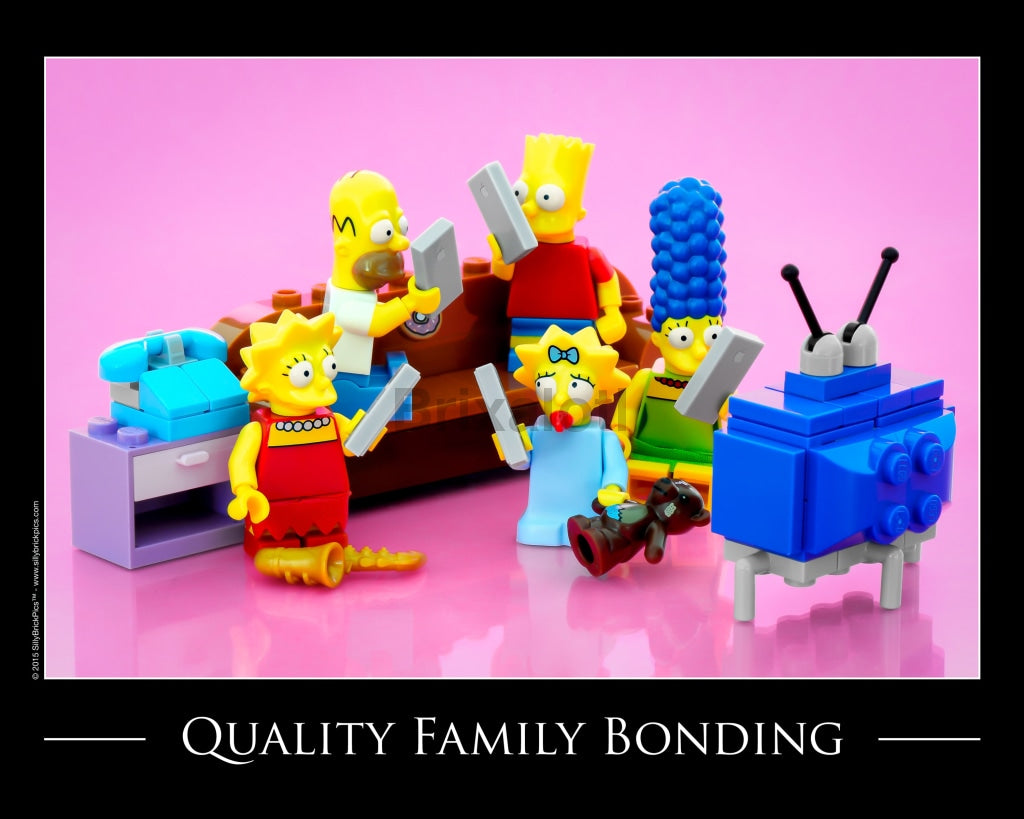 Simpsons® Quality Family Bonding Toy Photography Art Print 8X10 Art