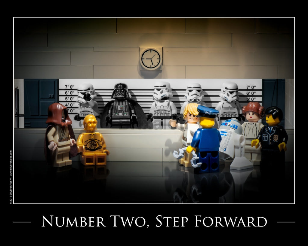 Star Wars Mugshot Toy Photography Art Print 8X10 Art