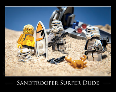 Surf Trooper Toy Photography Art Print 8X10 Art
