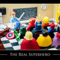 The Real Hero Toy Photography Art Print 8X10 Professor Art