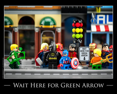 Waiting For The Green Arrow Toy Photography Art Print 8X10 Art