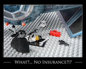 What No Insurance! Toy Photography Art Print 8X10 Art