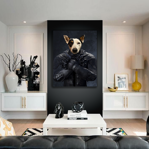 The Black Panther - Custom Pet Canvas