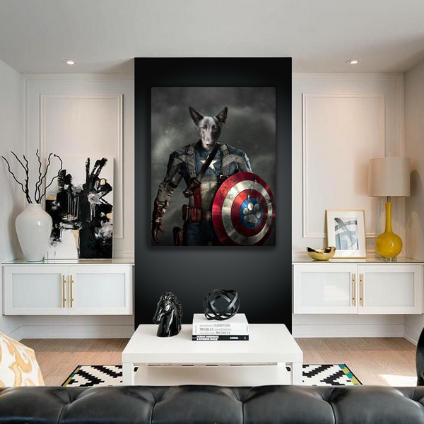 The Captain America - Custom Pet Canvas