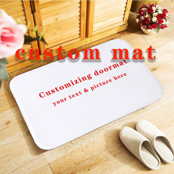 Personalized Gray Doormat