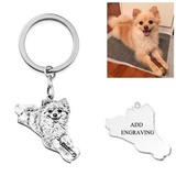 Custom Photo Silver Pet Keychain
