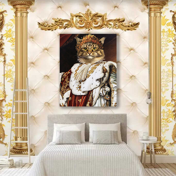 The Queen - Custom Pet Canvas Portrait