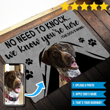 Personalized Photo Gray Doormat