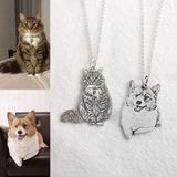 Custom Photo Titanim Steel Pet Necklace