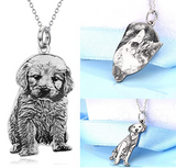 Custom Photo Silver Pet Necklace