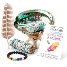 White Sage Smudging Kit for Beginners (2 Sage Bundles)