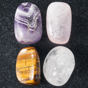 Amethyst, Rose Quartz, Tiger's Eye, & Clear Quartz