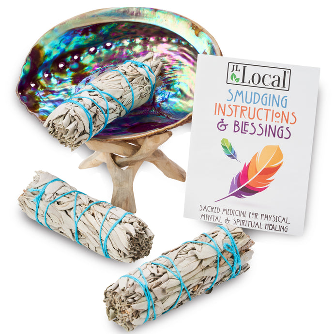 3 Sage Smudging Kit - Standard w/Stand