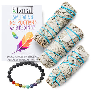 White Sage 3-Pack (with Chakra Bracelet!)