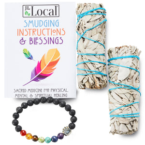 White Sage 2-Pack (with Chakra Bracelet!)