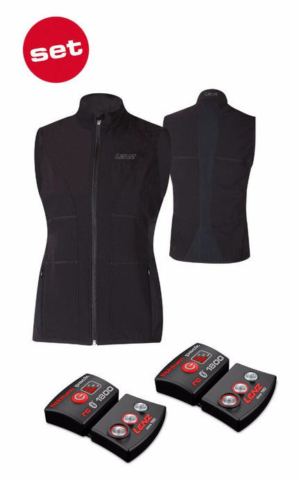 Set - Beheizbare Weste 1.0 + Akku Pack RCB 1800 (Damen)