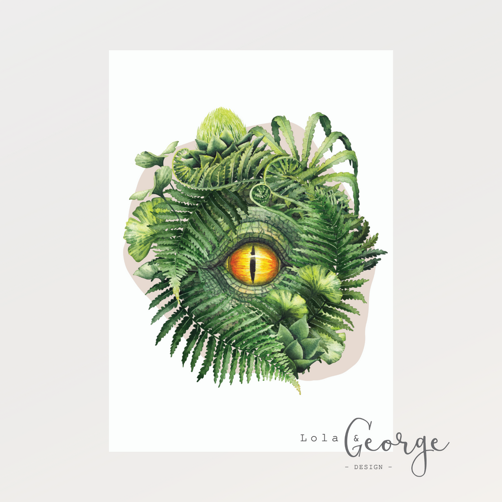 Jurassic Eye Spy Print - Lola & George