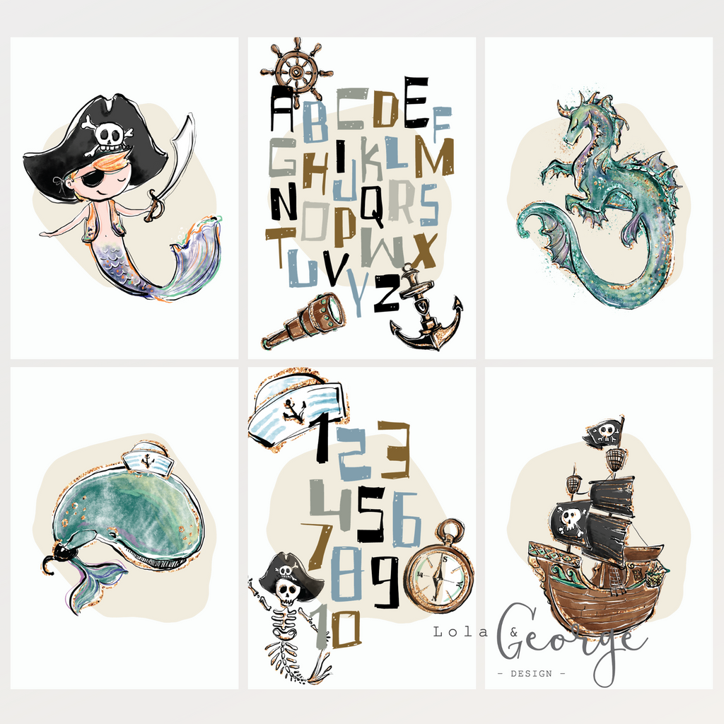 Pirate Pack Set - Lola & George